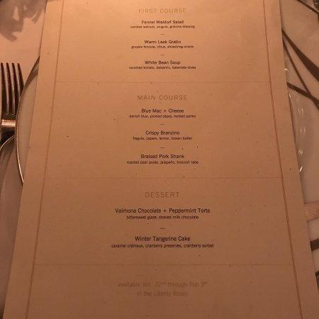 Aureole: Restaurant Week menu