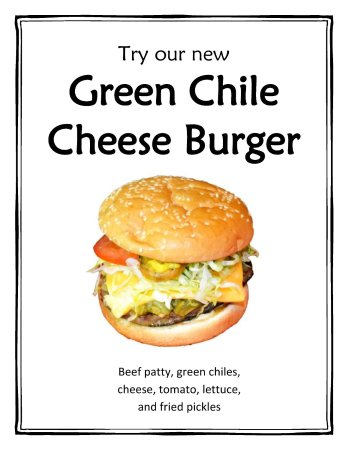 Taber, Canadá: Sauteed green chilis on a burger? We think so! Don't worry, they're not spicy. Just delicious!