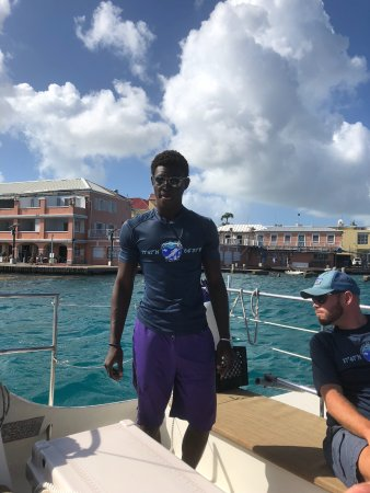 Caribbean Sea Adventures: Our Captain Moose and Guide Key