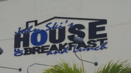 John Ski's House of Breakfast and Lunch: street sign