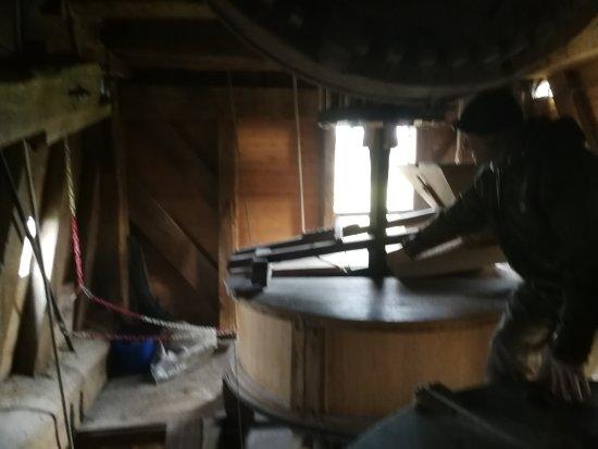 De trap in de molen toegang tot het bovendek picture of star mill