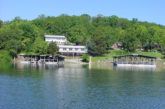 Mountain Home, AR: View of Edgewater Resort from the lake.