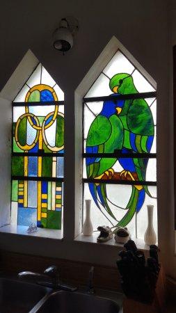 Ona, FL: glass mosaic windows