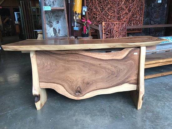 Boat wood table Picture of Bali Boo Furniture Store Kailua