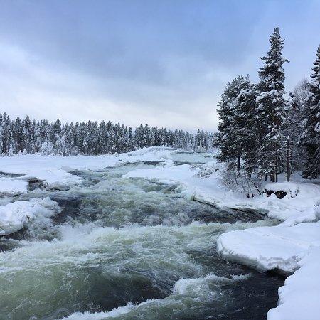 Alvsbyn, Sweden: Storforsen in winter, February 2018