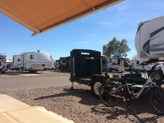 Casa Grande, AZ: View from my RV site