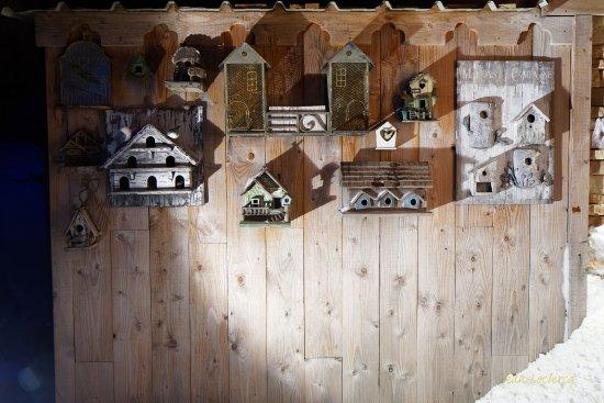 Chalet Hotel Le Collet : Détail du mur de façade