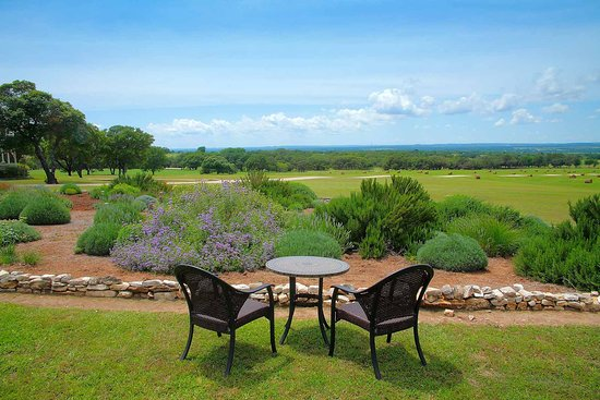 Stonewall, TX: View from the herb garden cottages