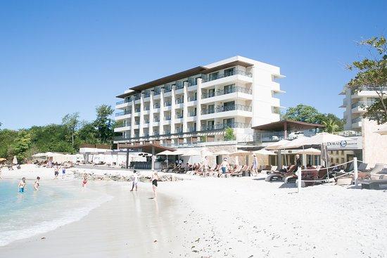 Cap Estate, Saint Lucia: Widok na plażę tylko na gości Hideway ( adults only)