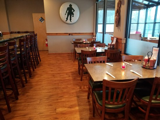 Lillington, NC: The bar area with table seating.