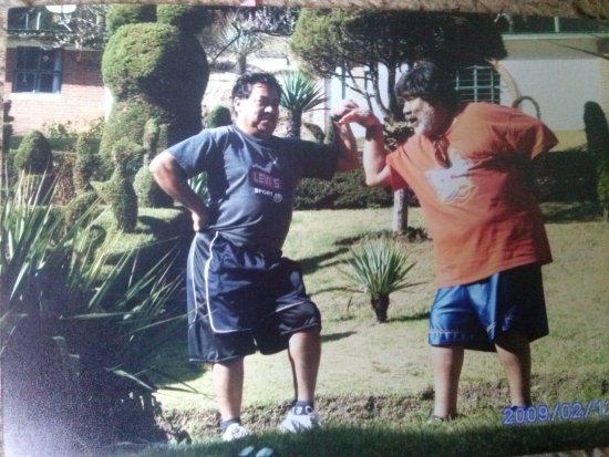 Ciudad Hidalgo, เม็กซิโก: tomada en los amplios jardines con que cuenta