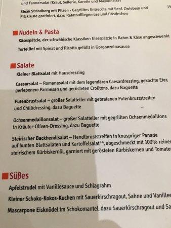 Speisekarte Picture Of Schnitzelwirt Munich Tripadvisor