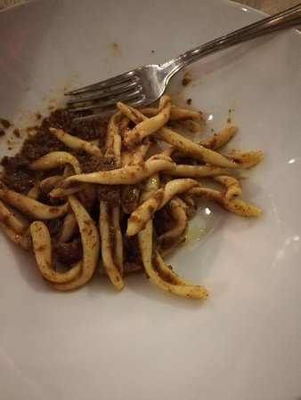 Palaia, Italy: Maccheroni con sugo di cervo