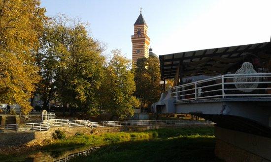 Paracin, Serbia: Η θέα στο εστιατόριο του ξενοδοχείου .