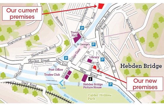 Hebden Bridge Map We have recently moved to Hope Street, Hebden Bridge, HX7 8AG  Hebden Bridge Map
