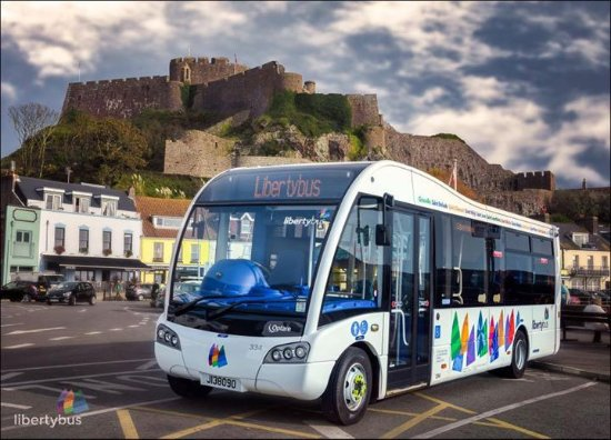 St. Helier, UK: Lovely picture of our new bus in Gorey