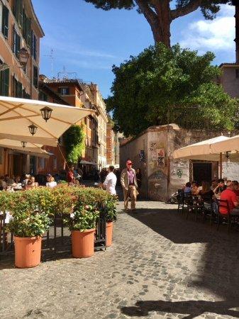 Trastevere: petites terrasses