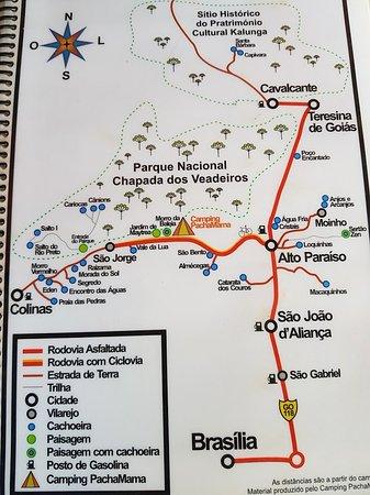 Mapa Da Regiao Picture Of Pachamama Camping Alto Paraiso De