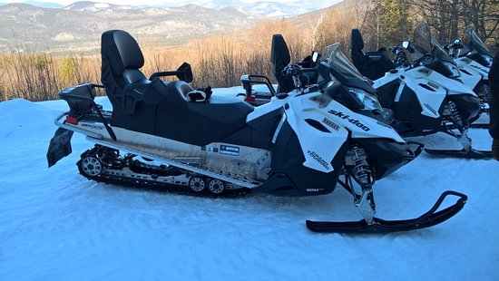 Bartlett, NH: Our Snow Mobiles on top of Bear Notch
