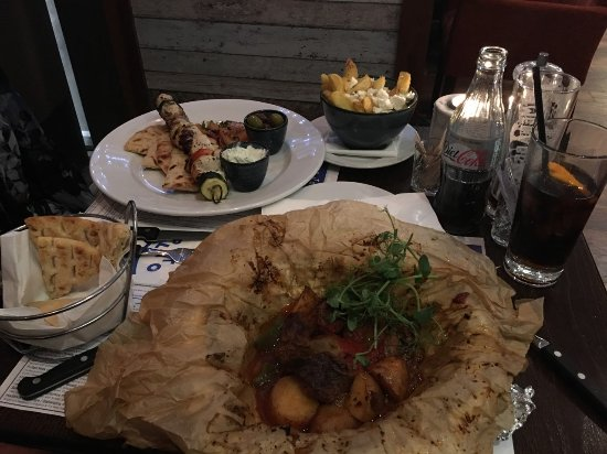 Bothwell, UK: The Lamb is cooked in Parchment paper so delivered to the table in a wrapped up bun