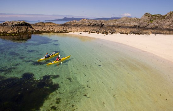 Paddling into a bay near Arisaig.