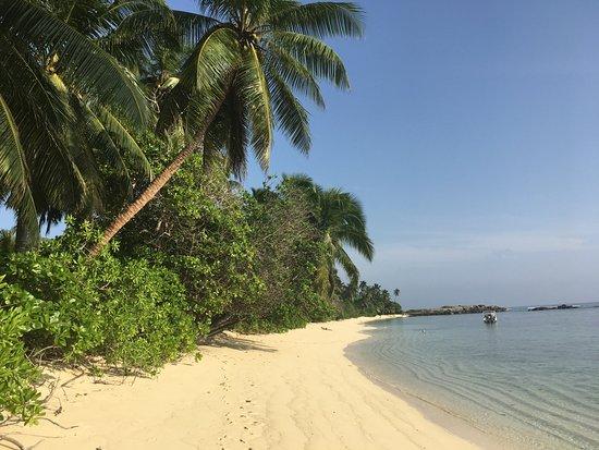 Chalets d'Anse Forbans: Strand vor den Chalets