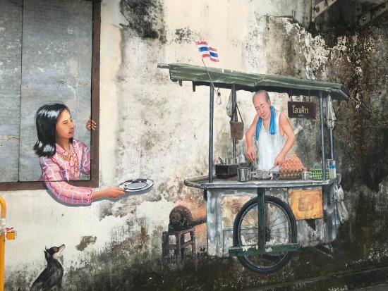 Old Phuket Town: one of the few graffiti