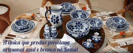 Monte Siao, MG: A única que produz porcelana artesanal azul e branca no Brasil.