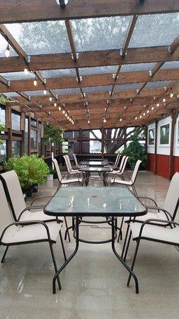 Garden City, KS: Garden Cafe Outdoor Dining Area.