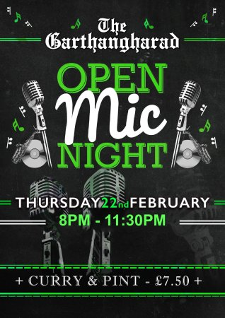 Llwyngwril, UK: Open mic night (Last Thursday every month)
