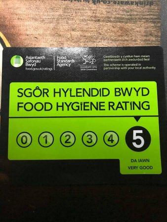 Llwyngwril, UK: 5* Hygiene rating