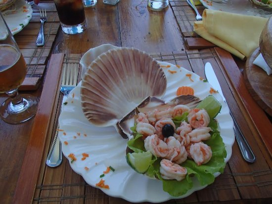 Santa Cruz del Norte, Cuba: Salad on the real see shell