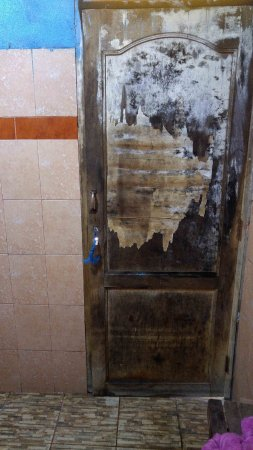Cochabamba Department, Bolívia: Door, wall, and floors of private baths.