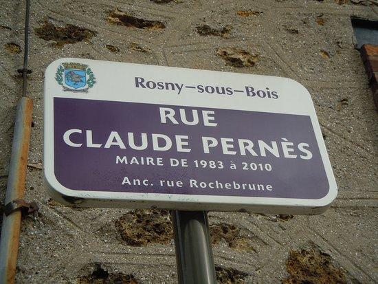 Parc Decesari: Plaque de rue de localisation du parc