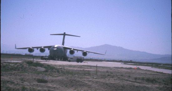 Flygbasen på Bagram var flitigt utnyttjat.