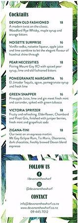 Devonport, Новая Зеландия: Cocktails