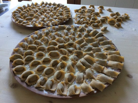 Pinasca, Italy: Agnolotti del plin - made by us