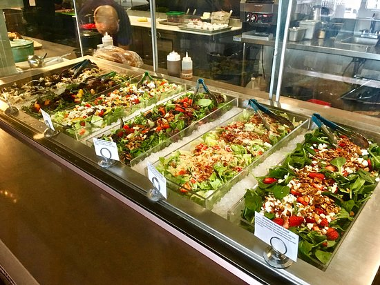 bushfire kitchen del mar choice of freshly prepared healthy salads - Bushfire Kitchen