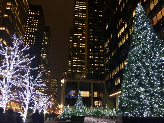 New York During Christmas Time.Outside During Christmas Time Picture Of New York Hilton