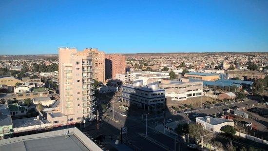 Australis Yene hue : Vista a la meseta desde el  décimo piso