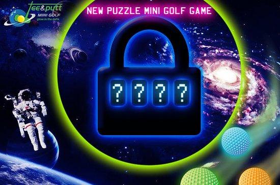 Escape room puzzle minigolf