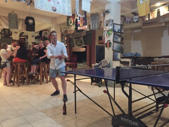 Surf Club Sports Bar: Ping pong and high tops.