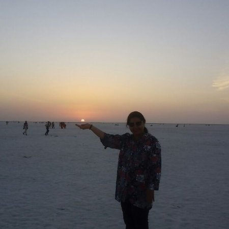 White Desert: Beautiful sunset