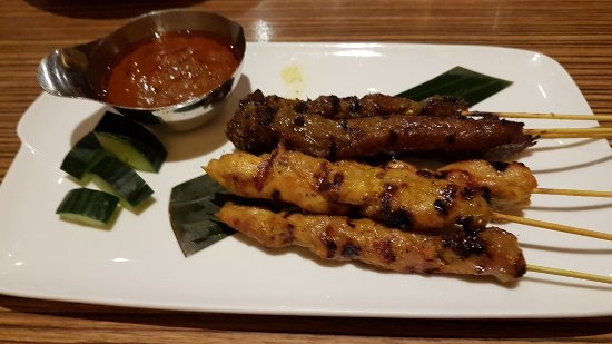 Banana Leaf Malaysian Cuisine: Beef and Chicken Satay Skewers
