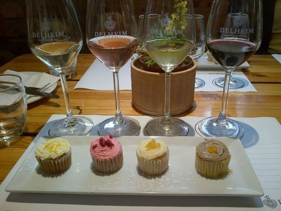 Cupcake and Wine pairings on our Breedekloof Wine Valley Tour, Cape Town, South Africa.