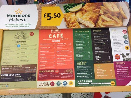 Morrisons Cafe Breakfast Menu
