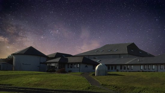 Schull planetarium at nightime