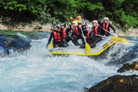 Poiana Brasov, Romania: Rafting on Tara River in our 3RiversExpedition from Montenegro.