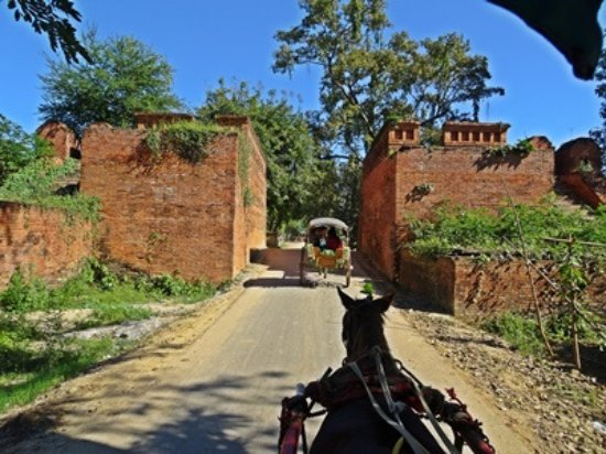 Amarapura, Burma: the entrance and part of the fort wall