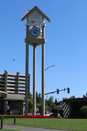 Coeur d'Alene City Park and Independence Point: Clock Tower at Independence Point